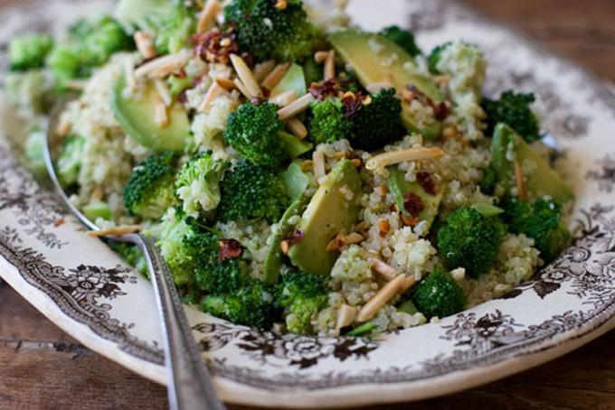 Double Broccoli Quinoa -gluten-free-recipe