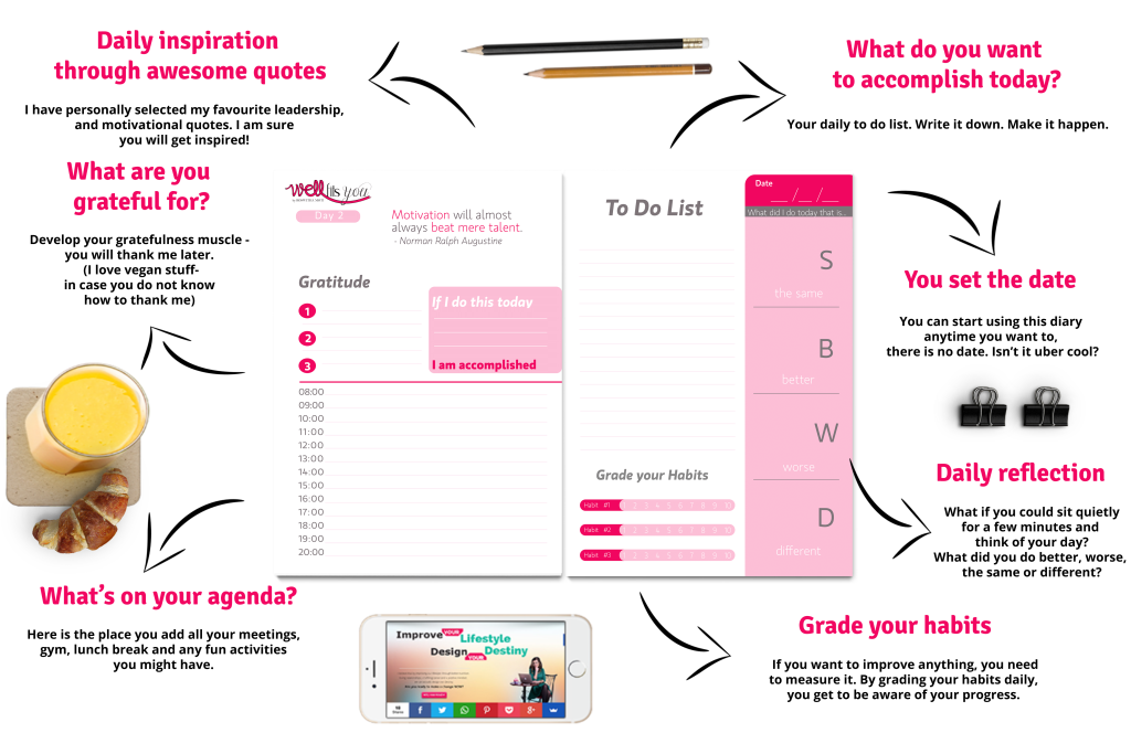 Plan Your Lifestyle Diary- to do list tips
